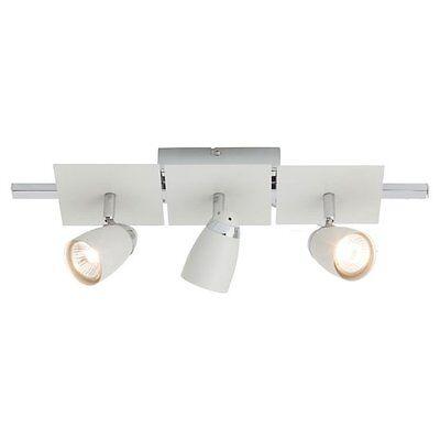 Brilliant G63630/05 Lanos Lampada Da Soffitto A 3 Faretti Da 50 W Colore Bianco Vivace E Grande Nello Stile
