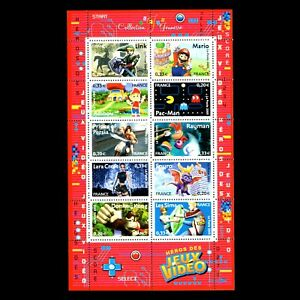 France-2005-Video-Game-Heroes-s-s-Sc-3155-MNH