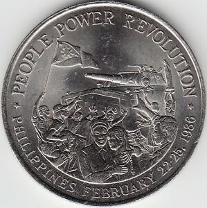 PHILIPPINES / 10 PISO, AU- 1988 PEOPLE POWER REVOLUTION
