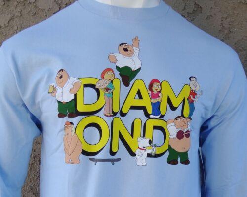 X FAMILY GUY BLUE MENS SPORT L//S T SHIRT RDAM-148 NEW DIAMOND SUPPLY CO