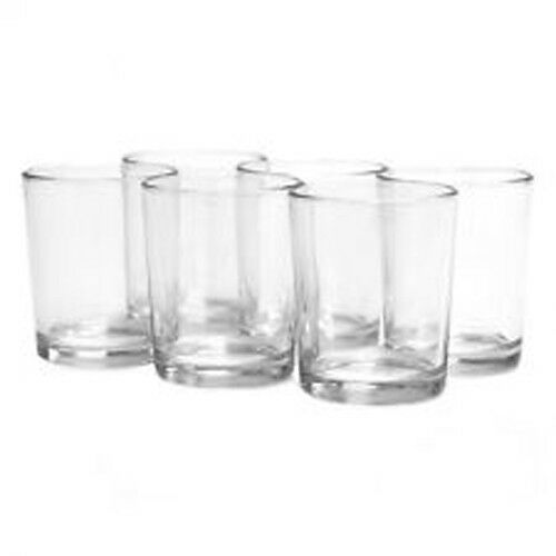 100 6cm Clear Glass Tealight Votive Wedding Event Candle Holder Shot Glass Favor