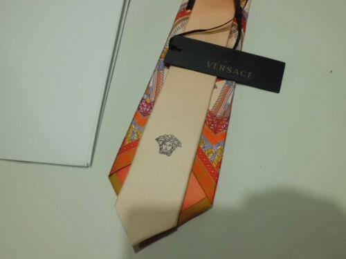 Versace Silk Tie Marco Polo Cravatta Uomo Seta Nuova Originale Rare