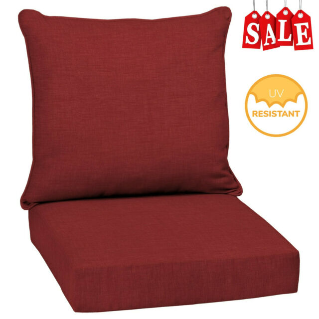 225 & Outdoor Deep Seat Chair Patio Cushions Set Pad UV \u0026 Fade Resistant Red Furniture
