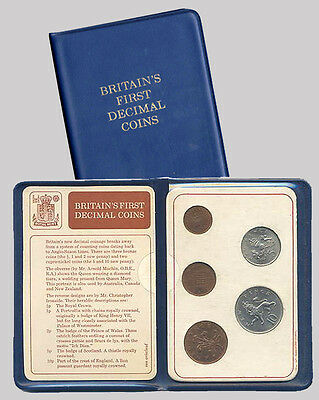Britain/'s First Decimal Coins Great Britain//UK 1971 decimal Day UNC