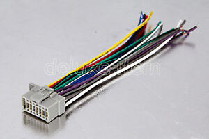 dual 16 pin wire harness panasonic car stereo grey 16-pin car stereo radio wire ... panasonic 16 pin wire harness
