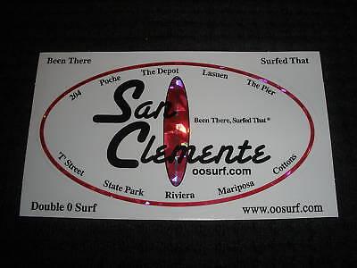 """BIG SUR SURF SURFING SURFBOARD STICKER.../""""SURFED THAT/"""""""