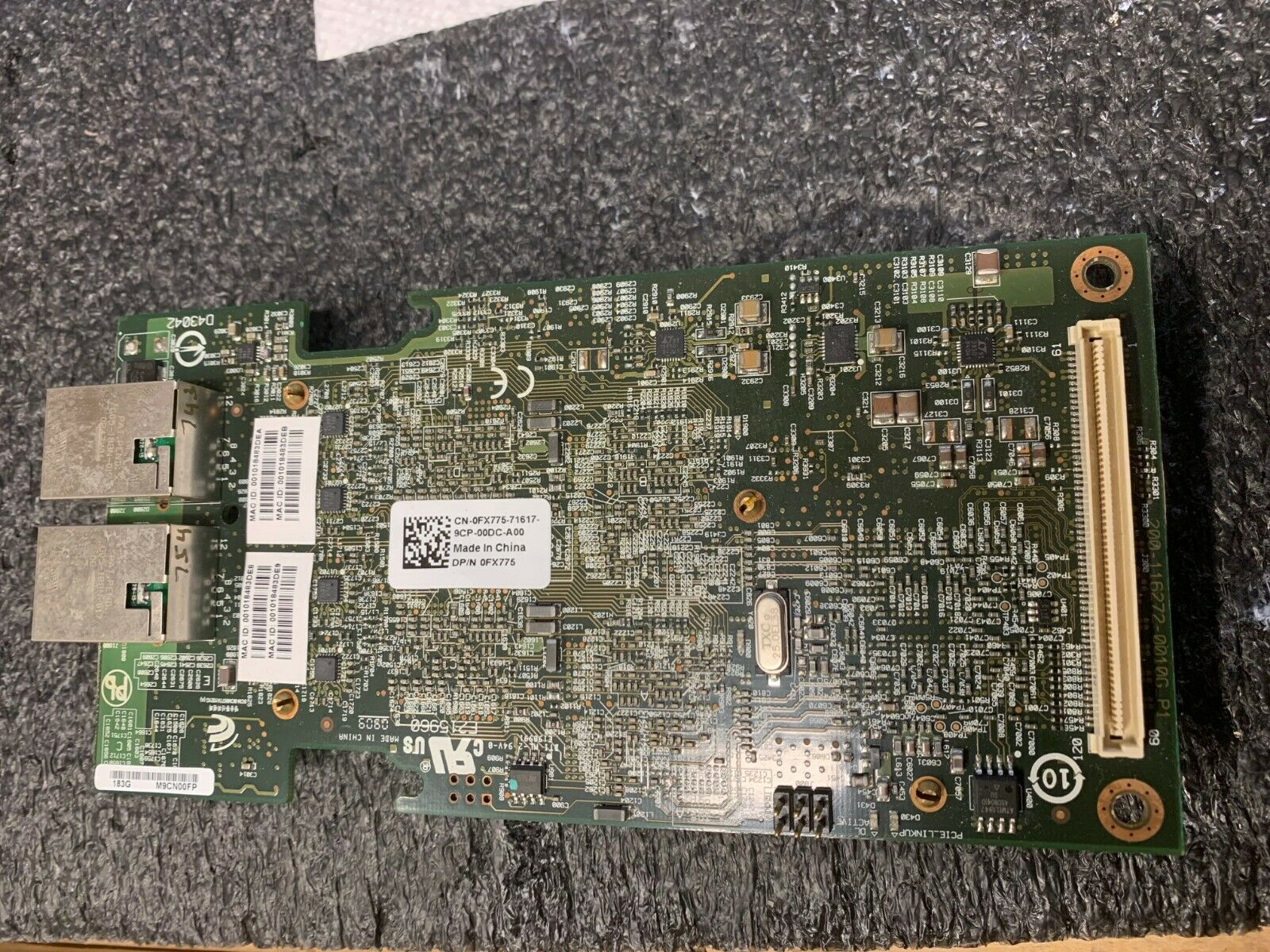 Dell 10GE Dual Port Network Card New DP/N: FX775 0FX775