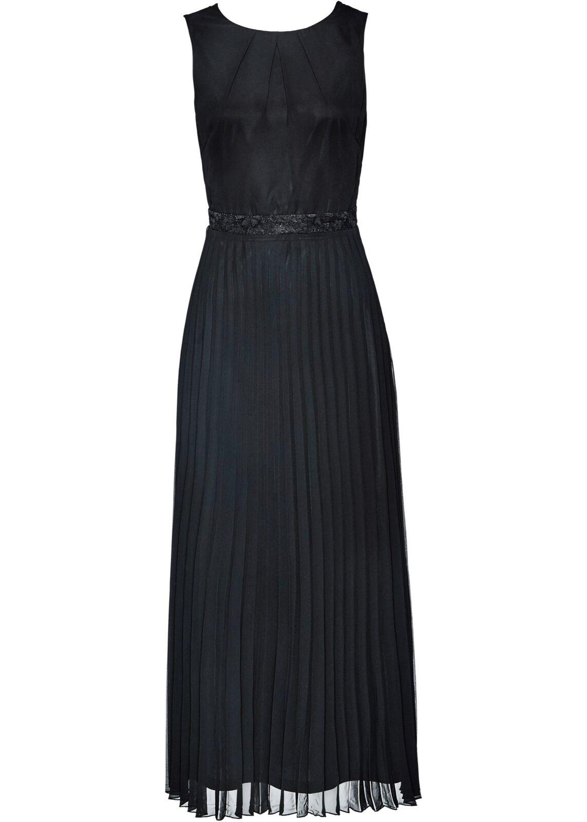 11a4a2b029f3e7 Premium Abendkleid mit Spitze Gr. 36 Maxi-kleid Ballkleid Neu Schwarz  Partykleid nortkp2642-Kleider