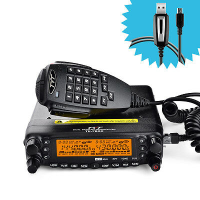 TYT TH-7800 Cross Dual Band Repeater Car Radio Walkie Talkie+Original Cable