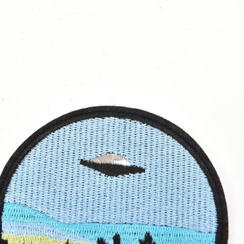 """1x embroidery  /""""i want to leave/""""  iron on patch badge hat jeans fabric appliqueY"""