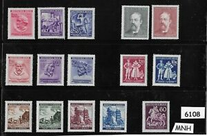 6108-MNH-Regular-Postage-stamps-WWII-Germany-Occupation-Third-Reich-era