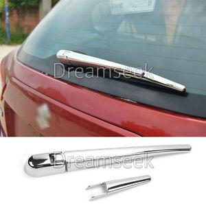 For-Suzuki-Sx4-S-Cross-2014-2016-Rear-Window-Rain-Wiper-Chrome-Nozzle-Cover-Trim