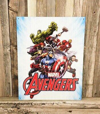 comics Avengers metal tin sign cafe  pub garden outdoor wall art