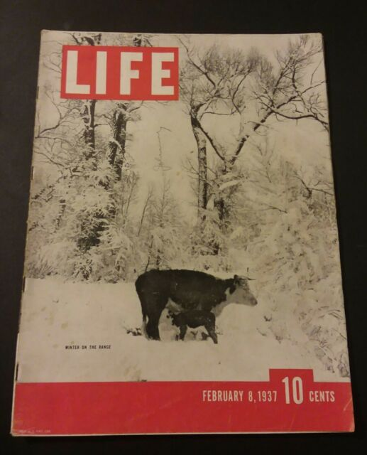 Vintage Life Magazine February 8, 1937 Winter on the Range Wyoming Ranch, Floods
