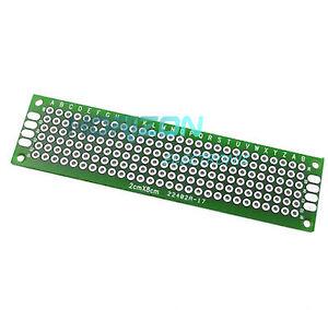 2 x Double Side Prototype PCB Tinned Universal Bread board 2x8 cm 20mmx80mm FR4