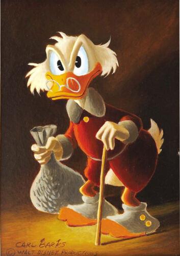 Art Print POSTER CANVAS Disney Scrooge McDuck-116,Home Decor HD