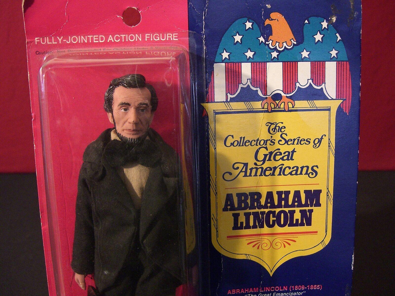 Vintage Fun World gran Americanos Abraham Lincoln 1976 Rara Figura Muñeco