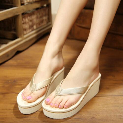 Uk Women Summer New Casual Home Non-Slip Flip Flops Flat Slipper Size 36~39