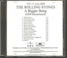 "ROLLING STONES ""A Bigger Bang"" German Acetate Promo CD RAR"