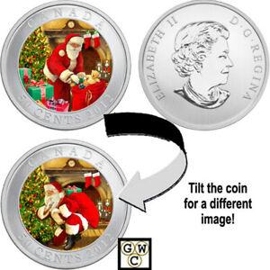 2012-039-Santa-039-s-Magical-Visit-039-Holiday-Lenticular-50ct-Coin-OOAK-13076
