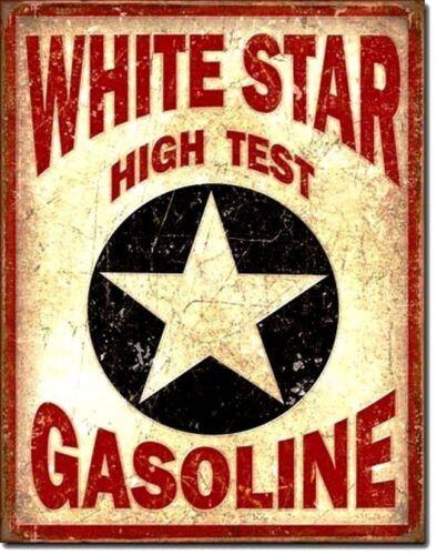 Vintage Replica Tin Metal Sign White Star Gas gasoline fuel station antique 1999