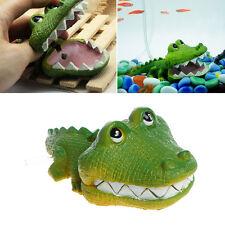 Aquarium Air Operated Crocodile Shape Bubbler Fish Tank Landscaping Ornament Hot