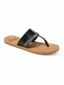 a1bc88a9cdea8 ROXY WOMENS SANDALS.NEW KAHULA STRAPPY BLACK SLIP ONS THONG FLIP ...