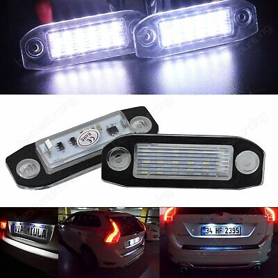 VOLVO C30 S40 II S60 II S80 I II 2 X LED NUMBER PLATE LAMP LIGHT 30634190