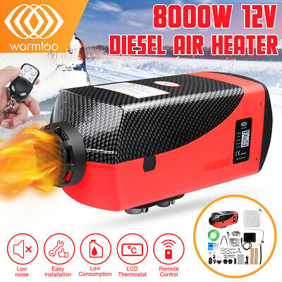 8KW 12V All In One Diesel Air Heater LCD Thermostat Boat Motorhome Truck Trailer