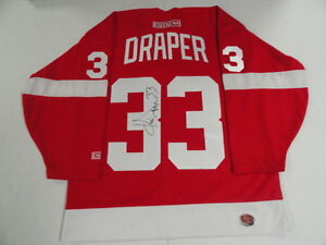 KRIS DRAPER SIGNED DETROIT RED WINGS STANLEY CUP JERSEY LICENSED ...