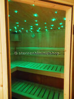 LED Sternenhimmel Set  220 Lichtfaser Einbau Sauna Bad Wellnes Glasfaser Optik