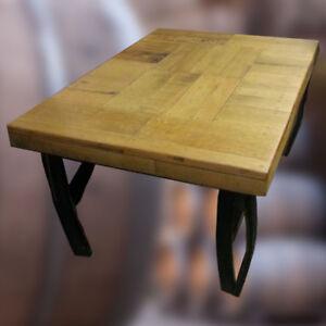 Details Sur Grand Recycle En Bois En Chene Massif Whisky Tonneau Table Basse Patio Table Afficher Le Titre D Origine