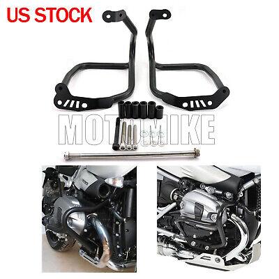 Motorcycle Crash Bars Engine Guards Bumper Protector Frame Protection For R1200 R NINE T 2014-2018 Black