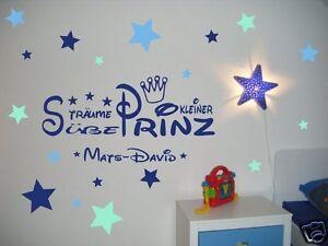 Das Bild Wird Geladen Wandtattoo Name Kinderzimmer Junge Baby  Suesse Traeume Sticker