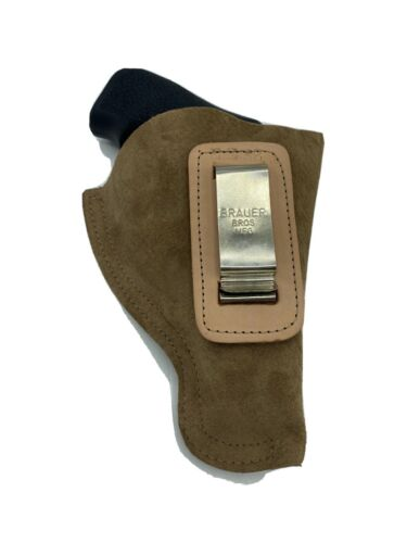 "LCR Brauer Bros Plush Leather IWB RH Holster Etc COMFY! 2-2.5"" 38//357 Jframe"