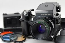 【Exc++++】 ZENZA BRONICA ETR-S AE-II Finder w/ 75mm F2.8 Lens w/ Strap from Japan