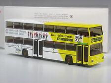 TOP: Wiking MAN D89 Doppeldecker Bus BVG Berlin Olympia 2000 in OVP