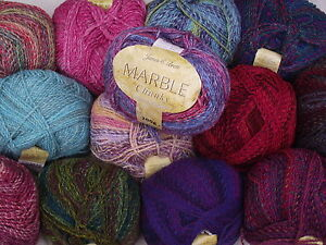 JAMES-C-BRETT-200g-MARBLE-CHUNKY-WOOL-MACHINE-WASHABLE-Choice-of-Colours
