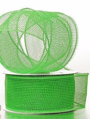 Deco Mesh Apple Green Craft Ribbon 2.5 in 20 yards 61421264 NEW Wreath /& Craft