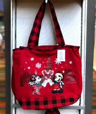 BNWT Walt Disney Parks Santa Mickey /& Minnie Mouse Christmas Holiday Large Tote