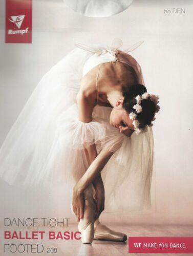 Alter 4-6 Ballettstrumpfhose Basic Weiss Gr
