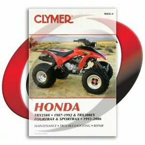 1987-1988-Honda-TRX250X-Repair-Manual-Clymer-M456-4-Service-Shop-Garage