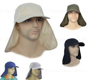 Fa1-SUN-NECK-BACK-EAR-NECK-FLAP-COVER-BASEBALL-CAP-LEGION-LEGIONNAIRE-SUN-HAT