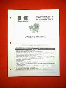 Kawasaki fc290v fc400v fc401v fc420v fc540v ohv 4-stroke engine.