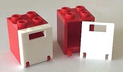 LEGO NEW Red Container Box 2x2x2 /& Door Lot City Friends Creator Tool 4345 4346