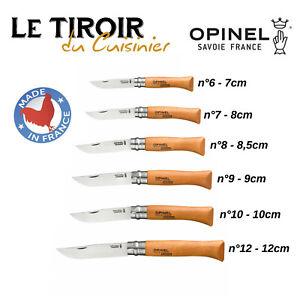 Couteaux-OPINEL-Acier-carbone-aux-choix-N-6-7-8-9-10-ou-12-NEUF
