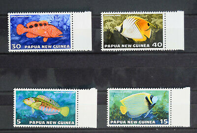 Fsh030 Papua New Guinea 1987 Fish (mnh) Set