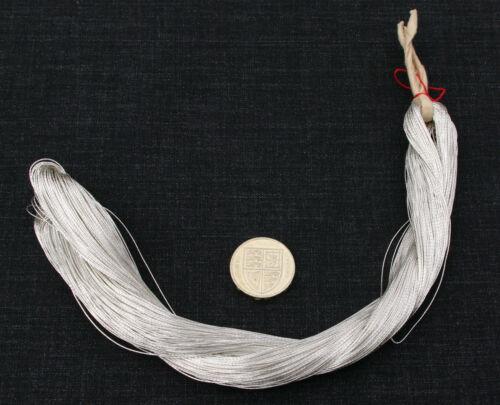 Japonais Véritable Argent épais fil 0.5 mm 100 Mètre écheveau de soie broderie orfèvrerie