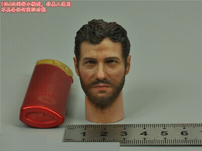 """Details about  /1//6 Scale DID D80138 Male Head Carving Model With Glasses For 12/"""" Figure"""