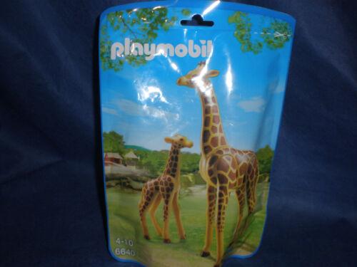 Playmobil Zoo Safari Savanne 6640 Giraffe mit Giraffenbaby neu new